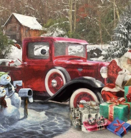 White Mountain Puzzles Puzzle, Santa & Truck