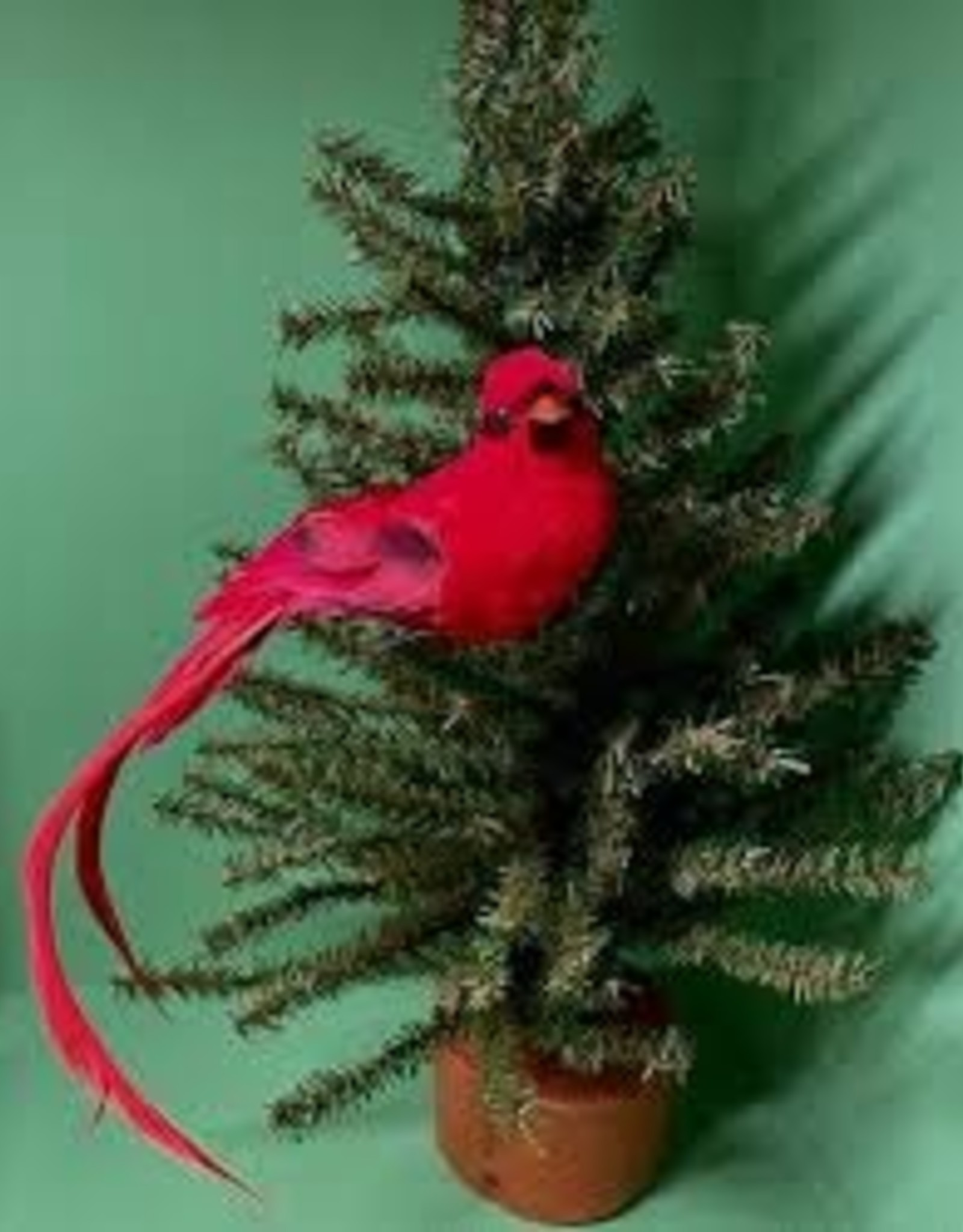 GiftCraft Cardinal w Feather Tail