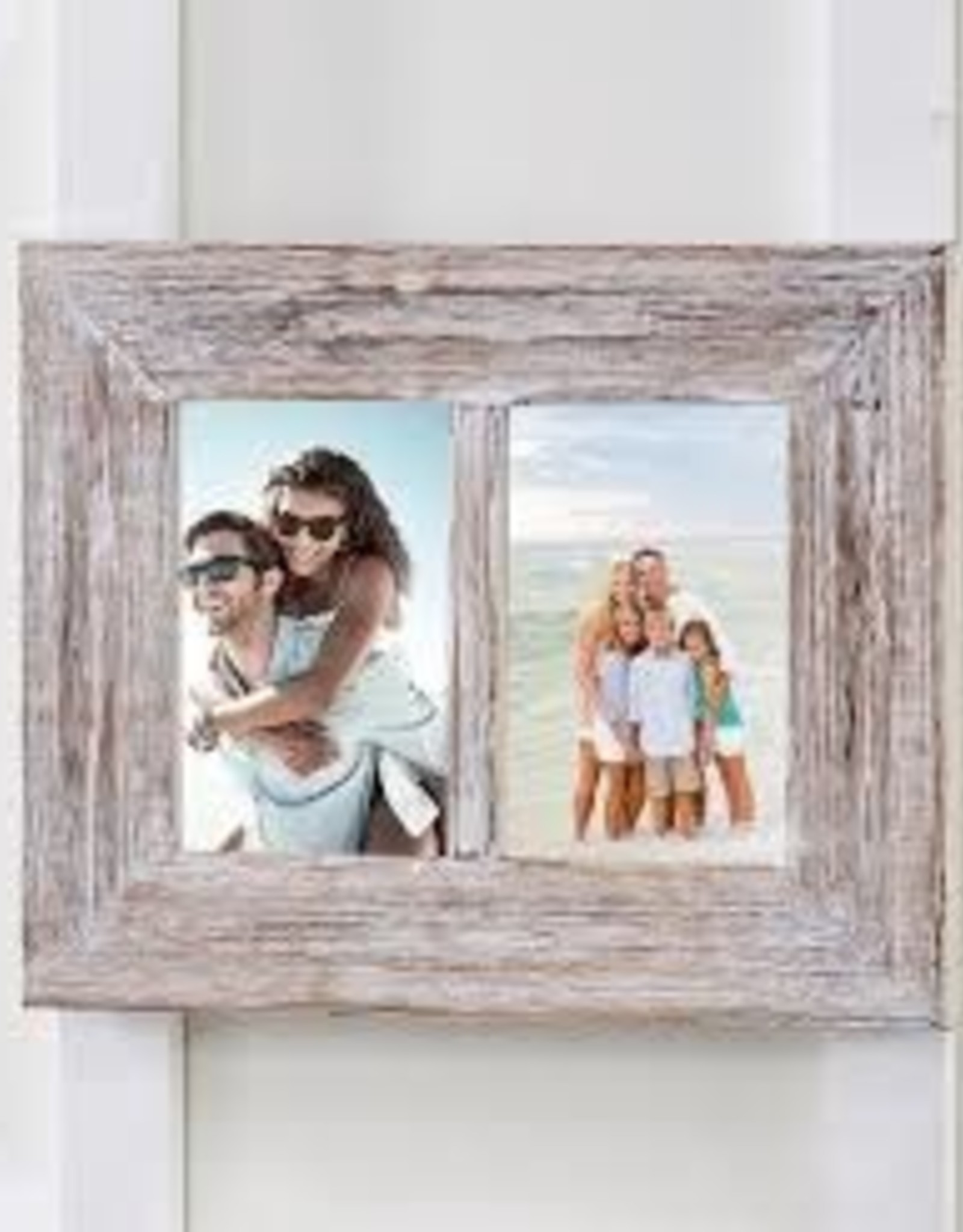 GiftCraft Driftwood Frame, Double 4x6