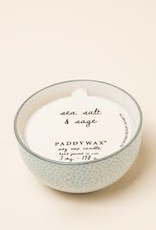 Paddywax Painted Bowl Candle, Small, Sea Salt & Sage