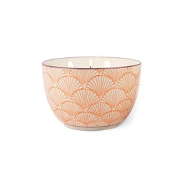 Paddywax Painted Bowl Candle, Large, Pink Pepper Pomelo