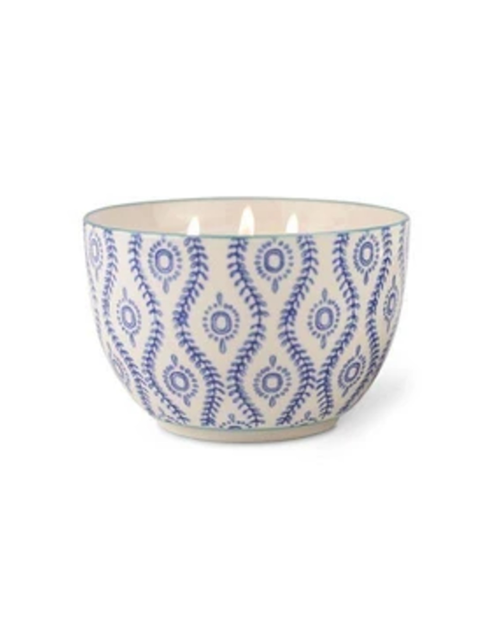 Paddywax Painted Bowl Candle, Large, Vetiver & Vanilla
