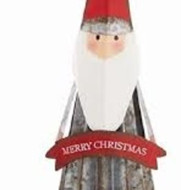Santa, Small Tin Shelf Sitter