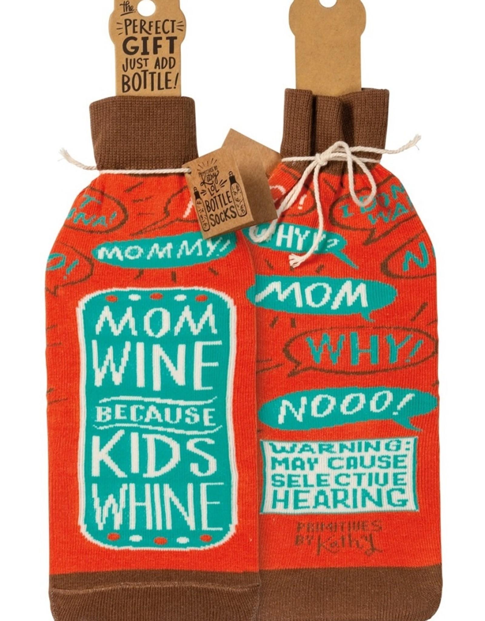 Mom Wine Because Kids Wine Sock