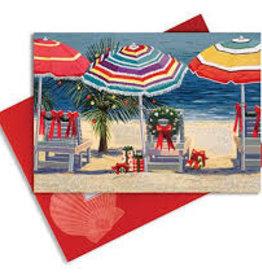Cape Shore Boxed Christmas Cards - Umbrellas