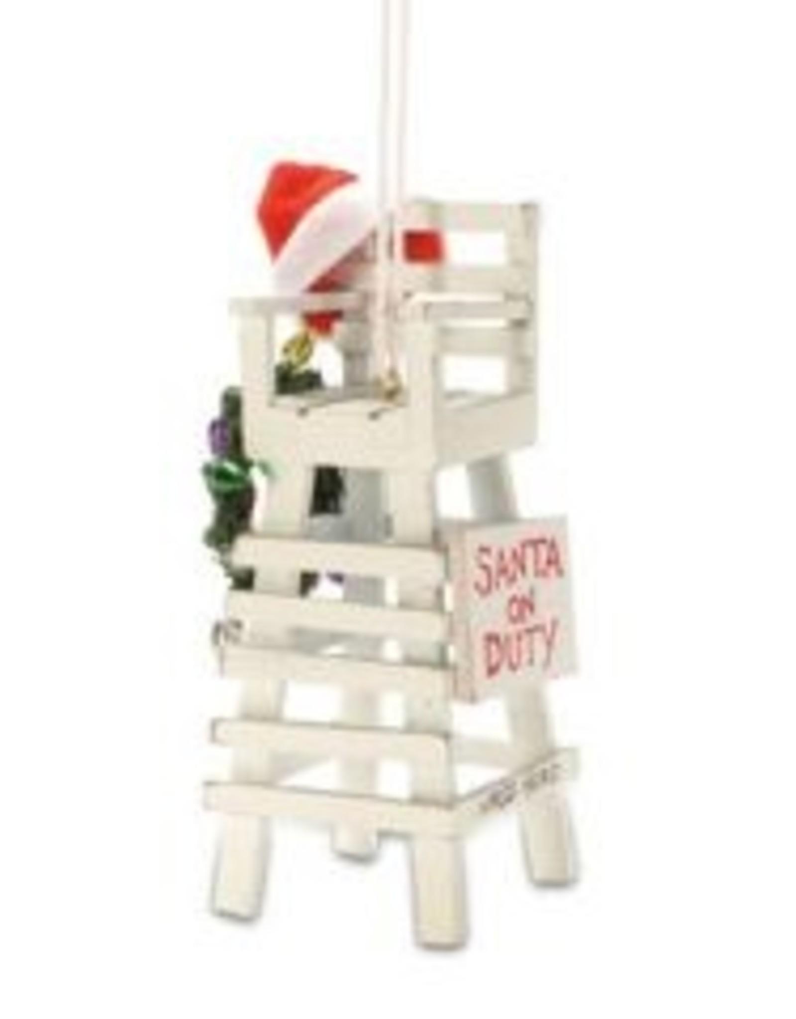 Cape Shore Santa On Duty Ornament - Jersey Shore