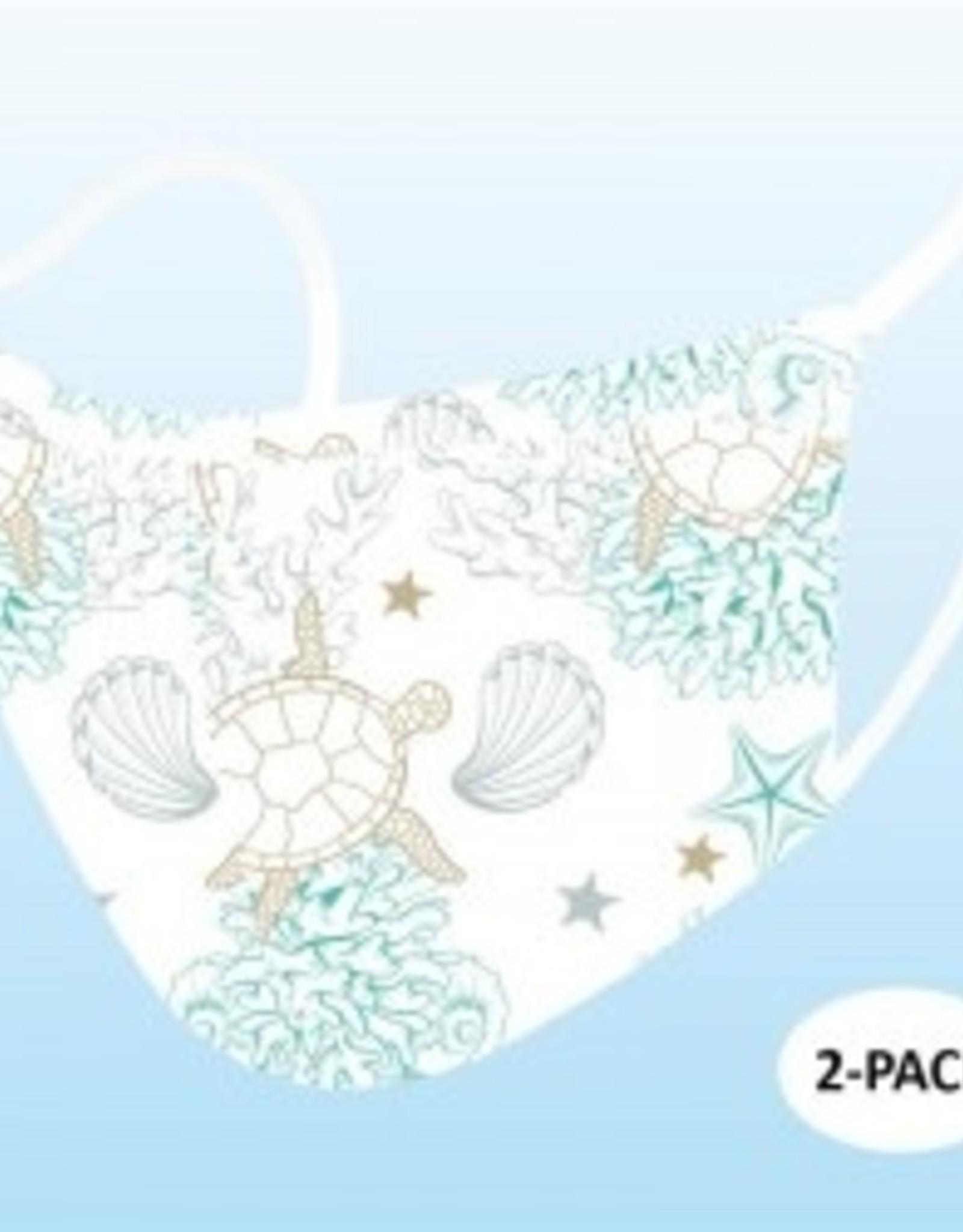 Face Masks, 2 pk - Sea Shells