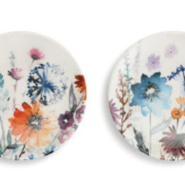 Appetizer Plates, Set of 2, Meadow Flowers