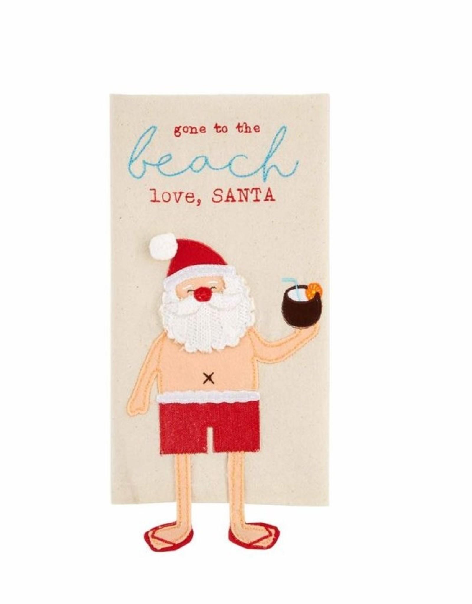 Dish Towel, Beach Santa