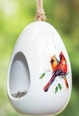 Cardinal Pair Bird Feeder