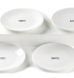 GiftCraft Appetizer Plates, Set of 4