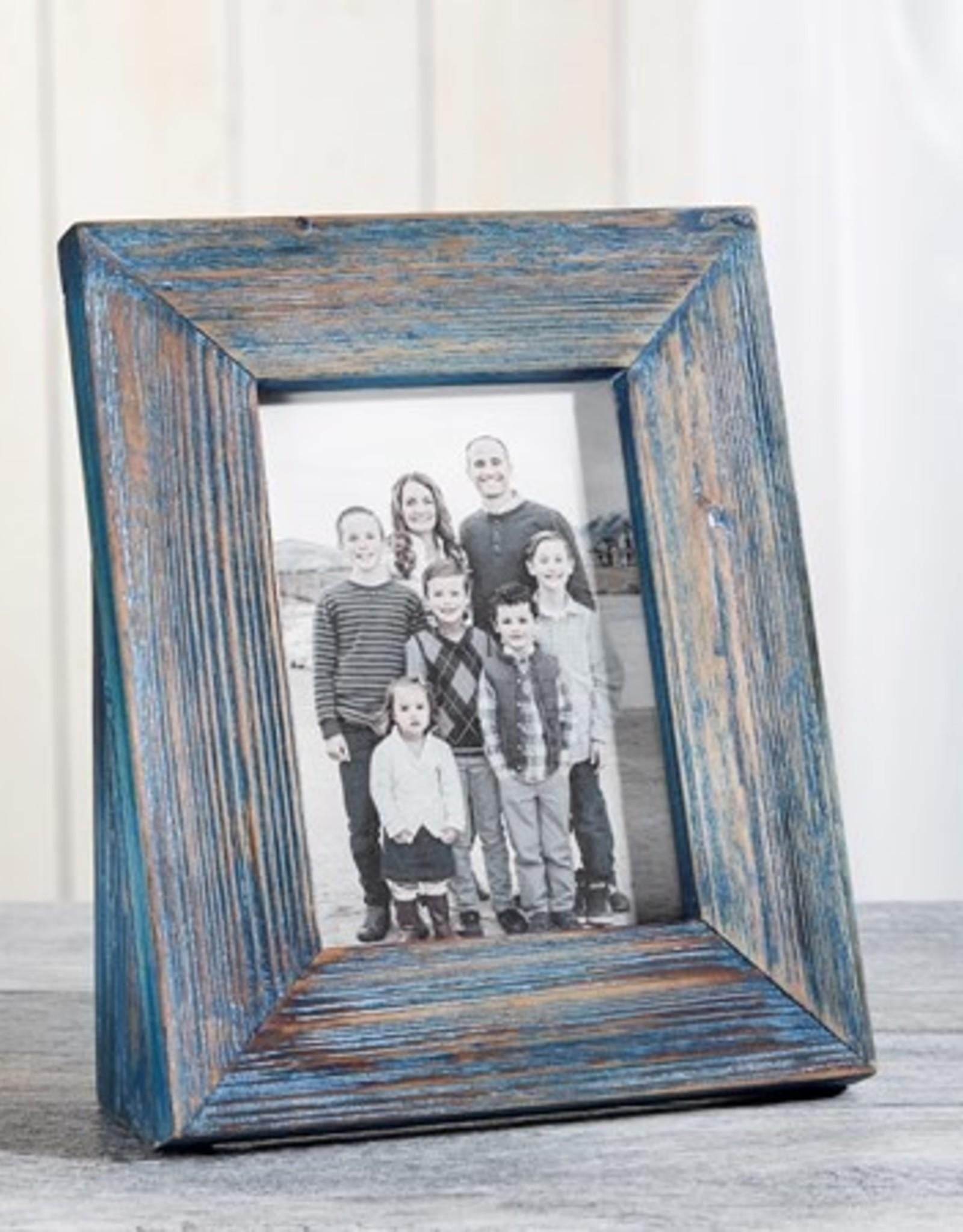 GiftCraft Green Blue Driftwood Frame, 4x6