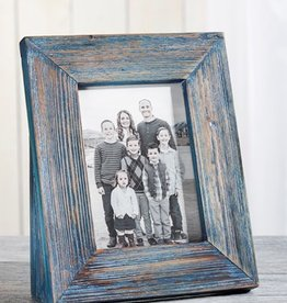 GiftCraft Green Blue Driftwood Frame, 4x6