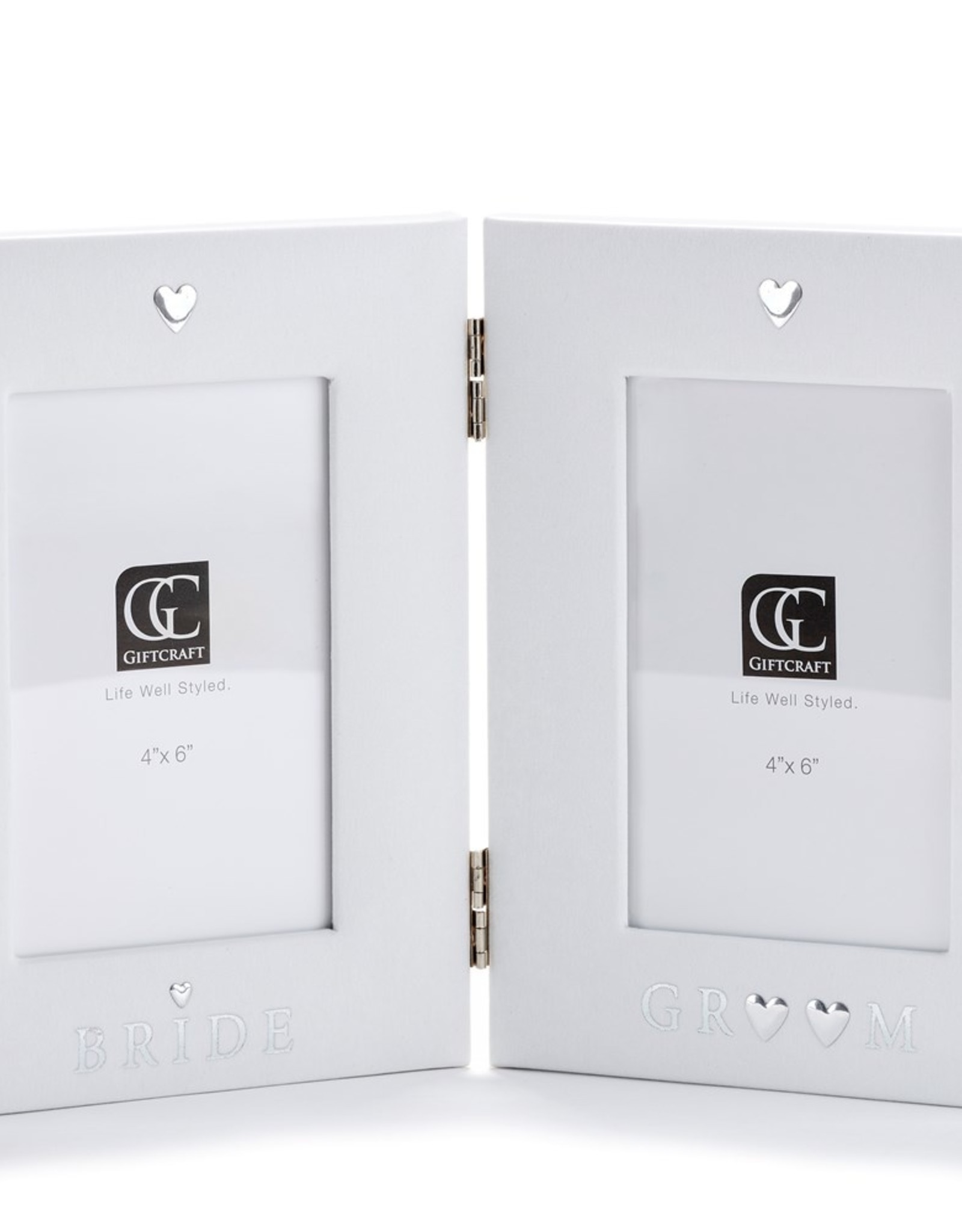 GiftCraft White Bride Groom Frame