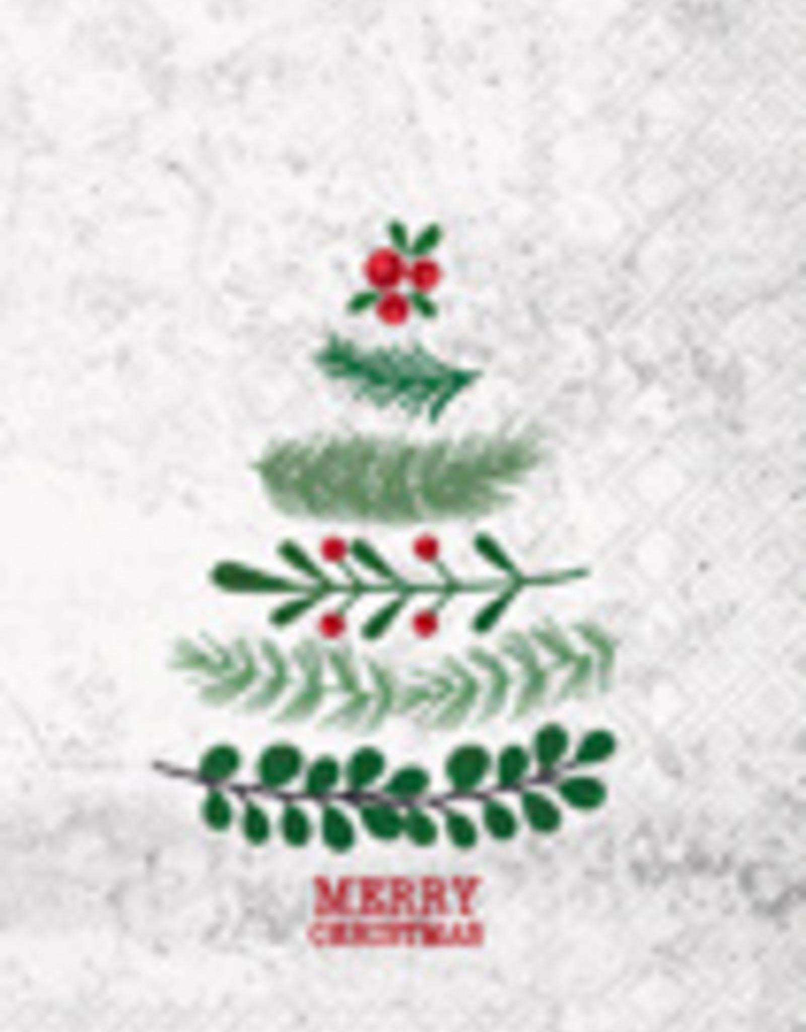 Boston International Guest Towel, Merry Christmas Tree