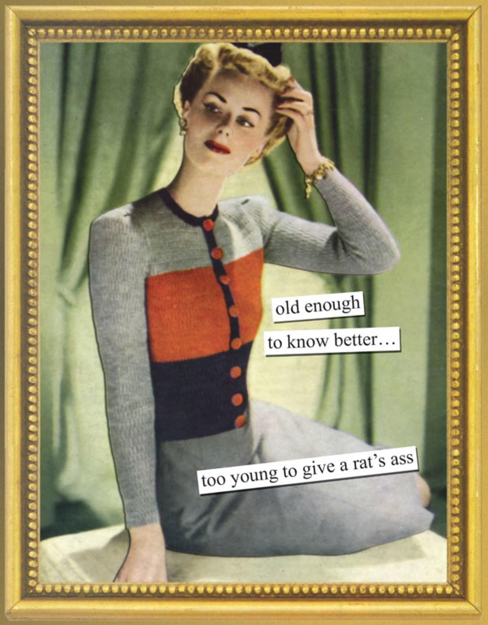 Anne Taintor Birthday Card - Rat's Ass