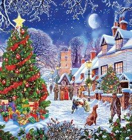 White Mountain Puzzles Puzzle, Village Christmas Tree