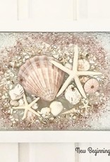 "New Beginnings Sea Glass Potter Sea Glass Art, 13 x 16"""