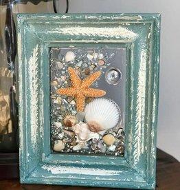 "New Beginnings Sea Glass Nags Head Sea Glass Art, 8.5 x 10.5"""