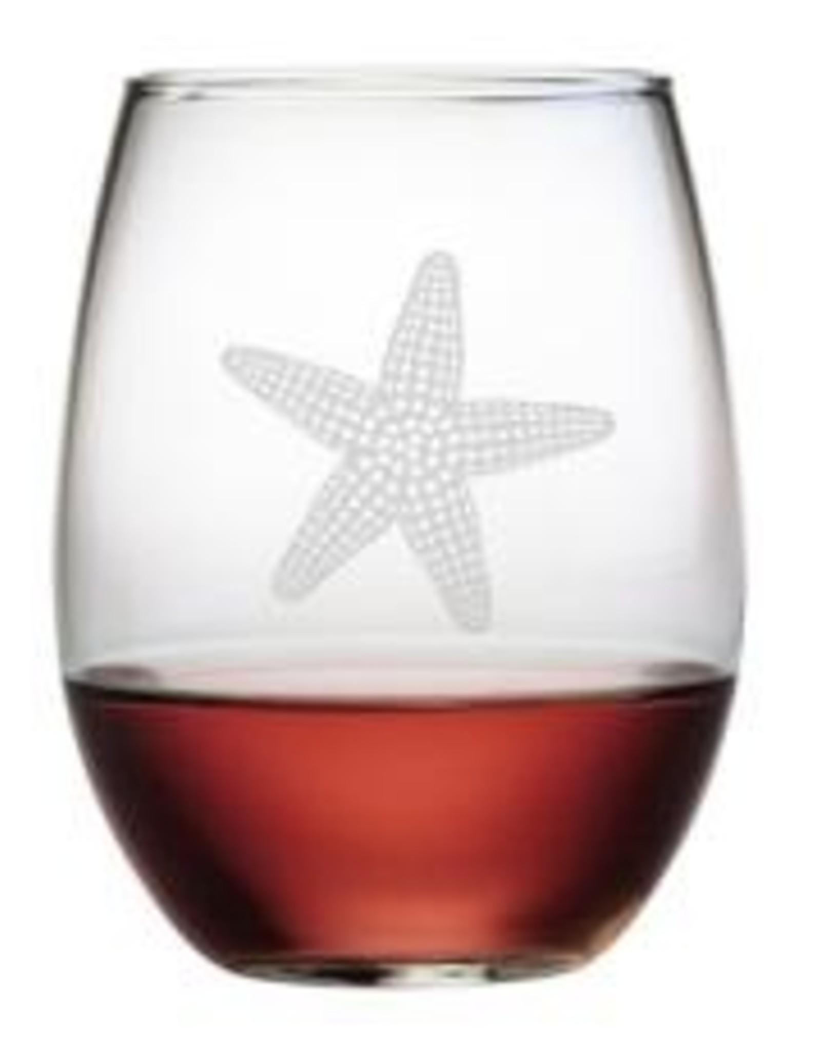 Susquehanna Glass Starfish Stemless Glass