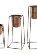 Nesting Copper Pot & Stand, Medium