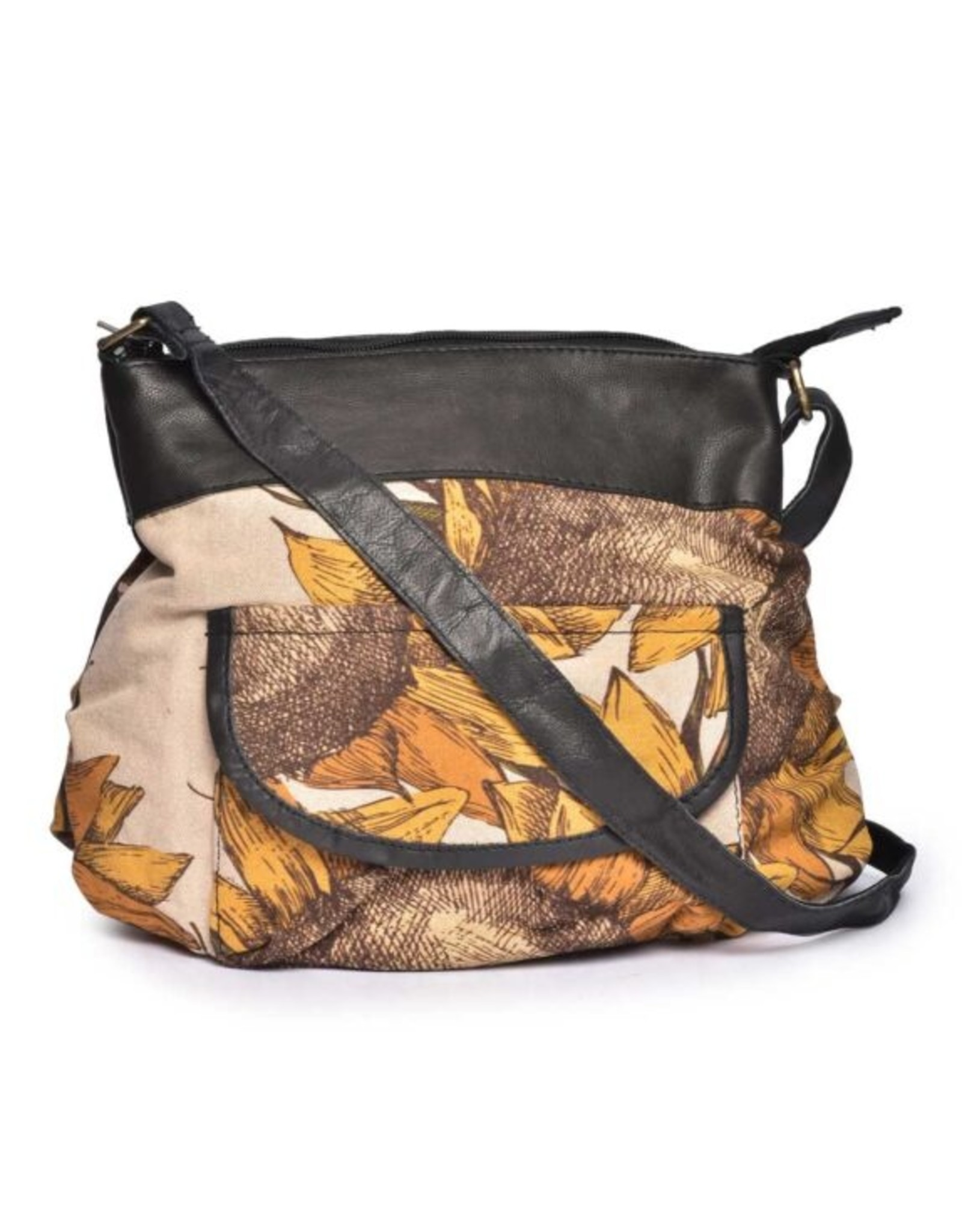 CottnCurls Bucket Sling Bag, Sunflower