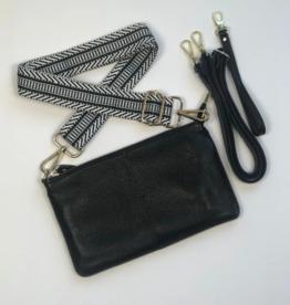 ClaudiaG Tonya Leather Crossbody, Black