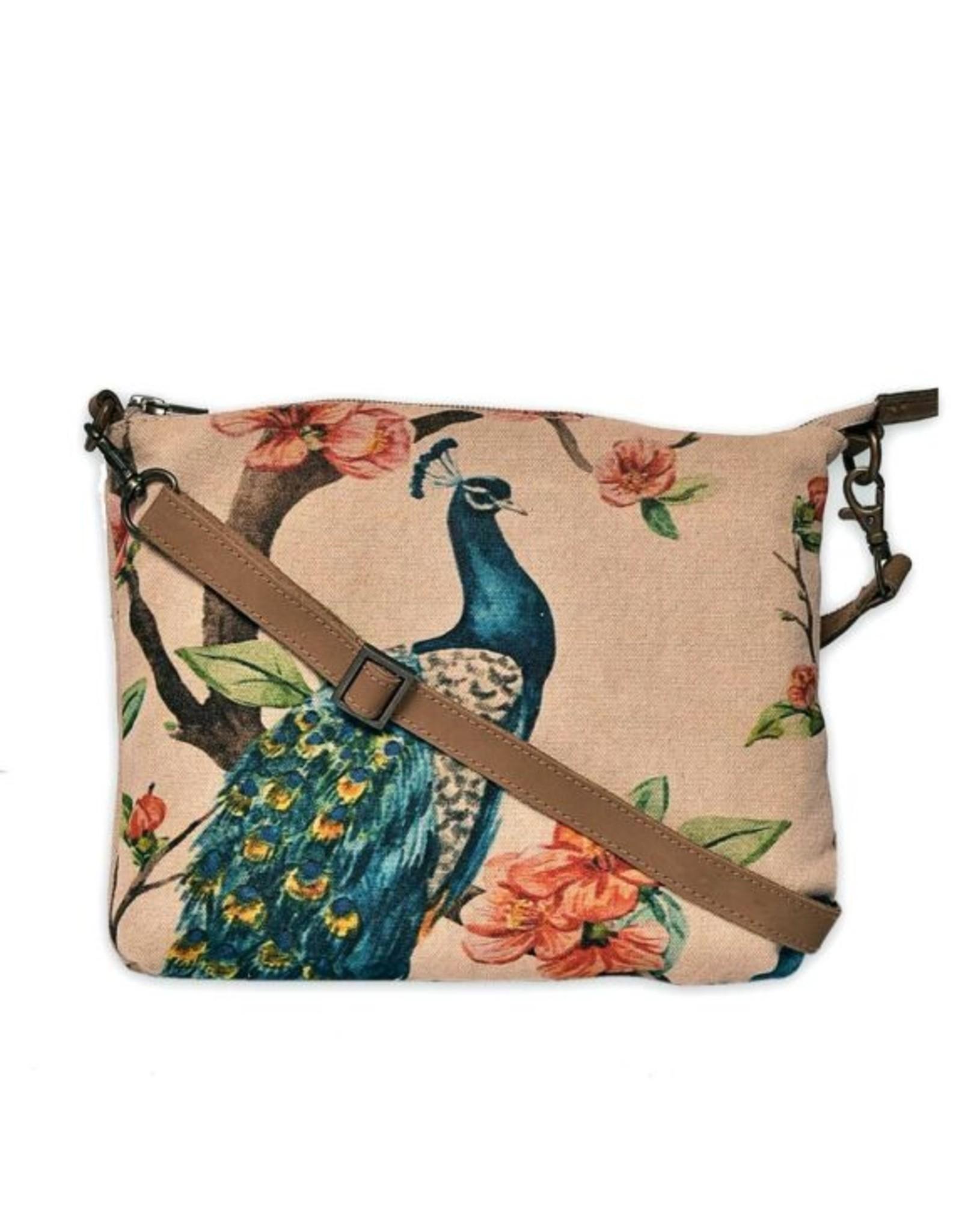 CottnCurls Sling Bag, Peacock