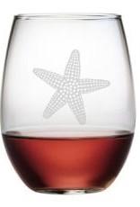 Susquehanna Glass Starfish Stemless Glass, Manasquan