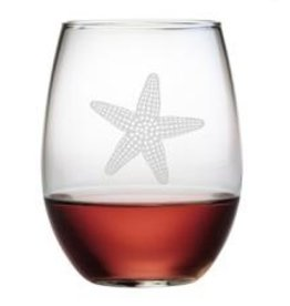 Susquehanna Glass Starfish Stemless Glass, Manasquan