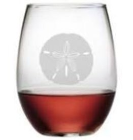 Susquehanna Glass Sand Dollar Stemless Glass