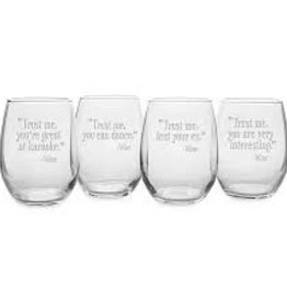 Susquehanna Glass Trust Me Text Your Ex Stemless Glass
