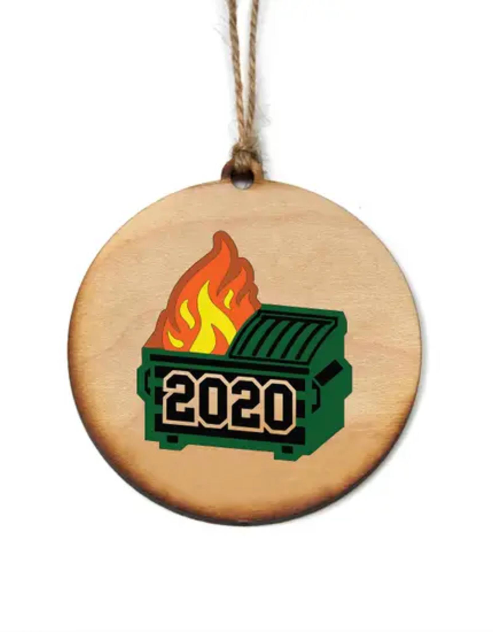 Driftless Studios 2020 Ornament, Dumpster Fire