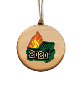 Driftless Studios 2020 Ornament, Dumpster Fire