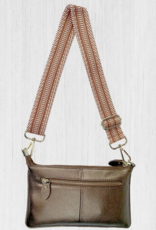 ClaudiaG Tonya Leather Crossbody, Bronze