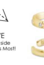 Stia Jewelry Adjustable Ring Gold, Brave