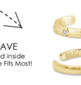 Stia Jewelry Adjustable Ring Gold, Brave
