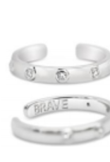Stia Jewelry Adjustable Ring Silver, Brave