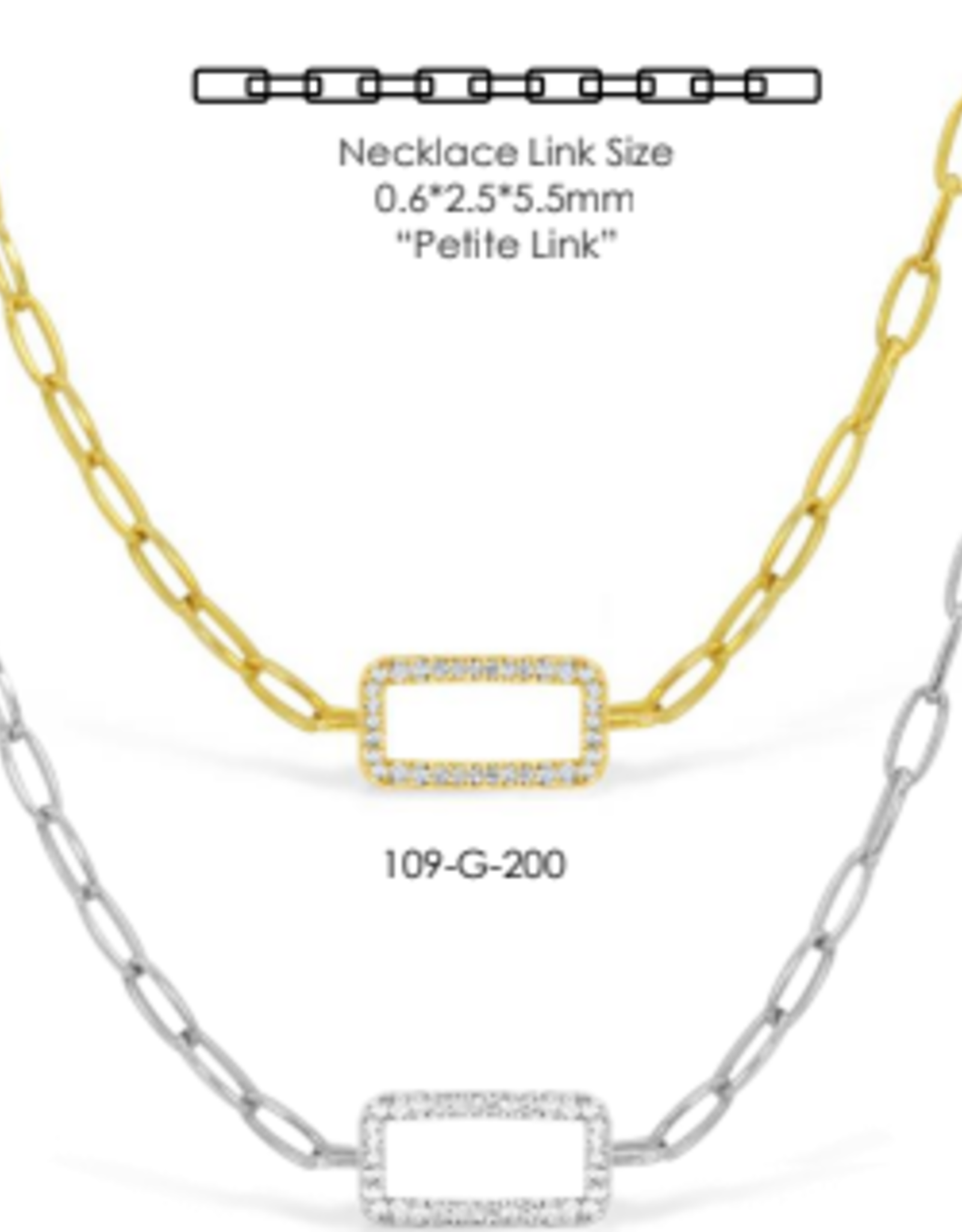 Stia Jewelry Pave Link Chain Necklace, Gold