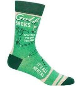 Blue Q Socks, Golf Socks - Swing Your Thing