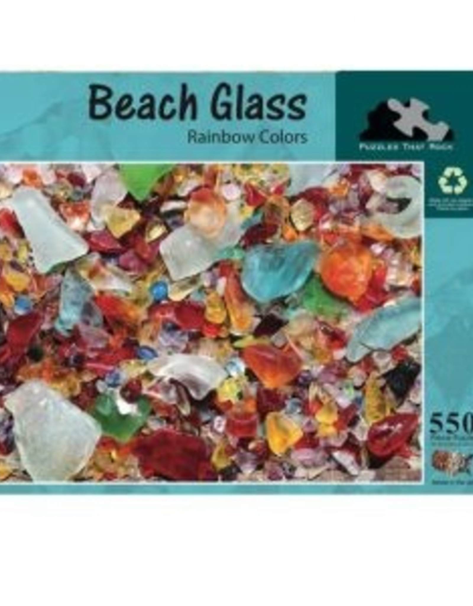 Puzzles That Rock Puzzle, Beach Glass Rainbow Colors