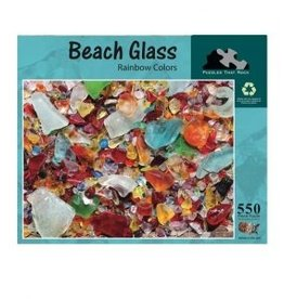 Puzzles That Rock Puzzle, Beach Glass Rainbow Colors