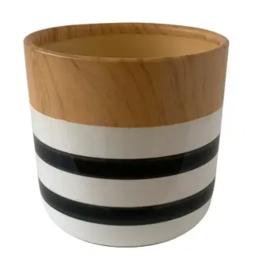 """Uniquely Coastal Ceramic Vase, 5"""" Stripe"""