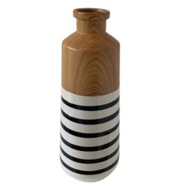 """Uniquely Coastal Ceramic Vase, 16"""" Stripe"""