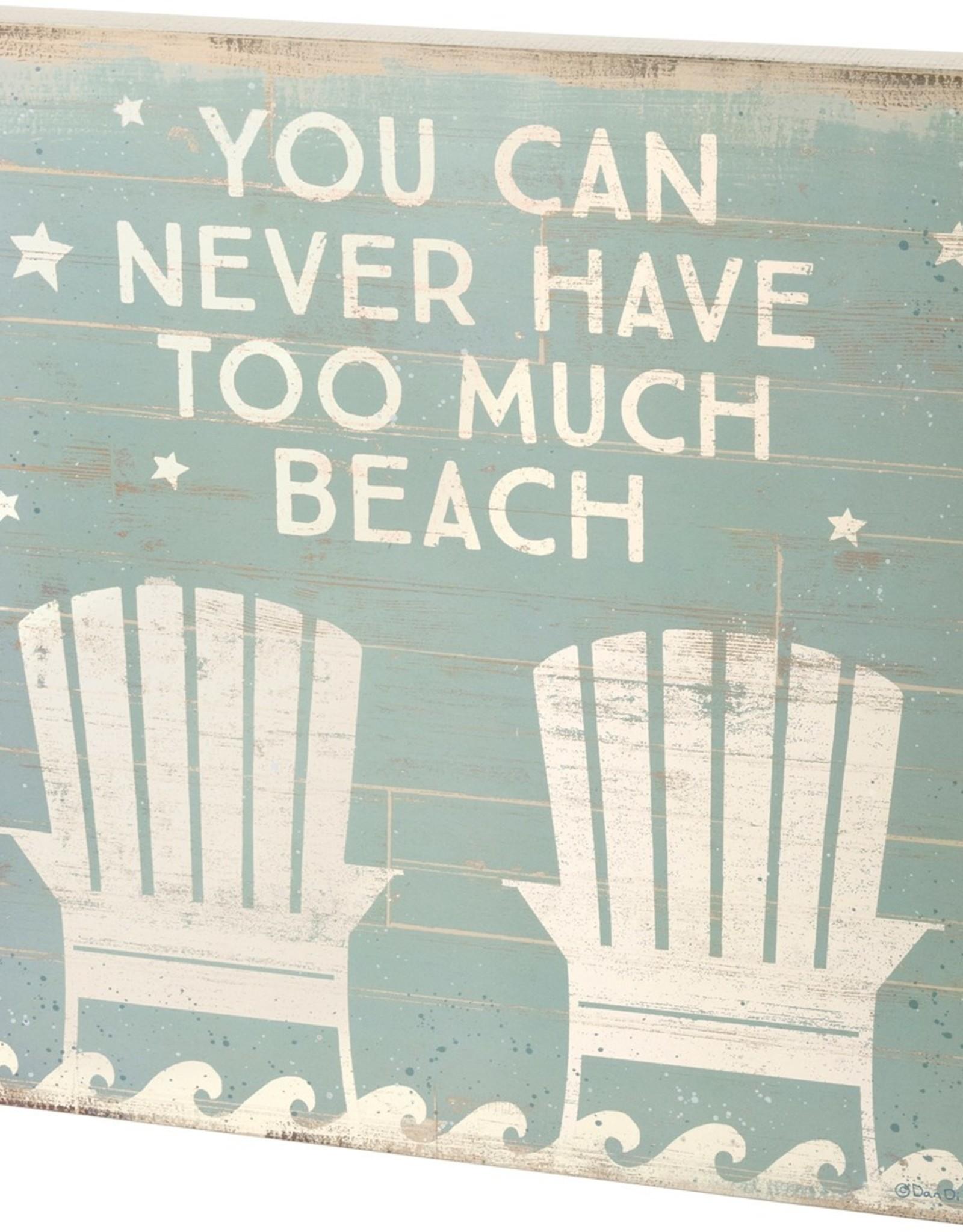 Box Sign - Too Much Beach