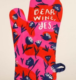 Blue Q Oven Mitt, Dear Wine, Yes