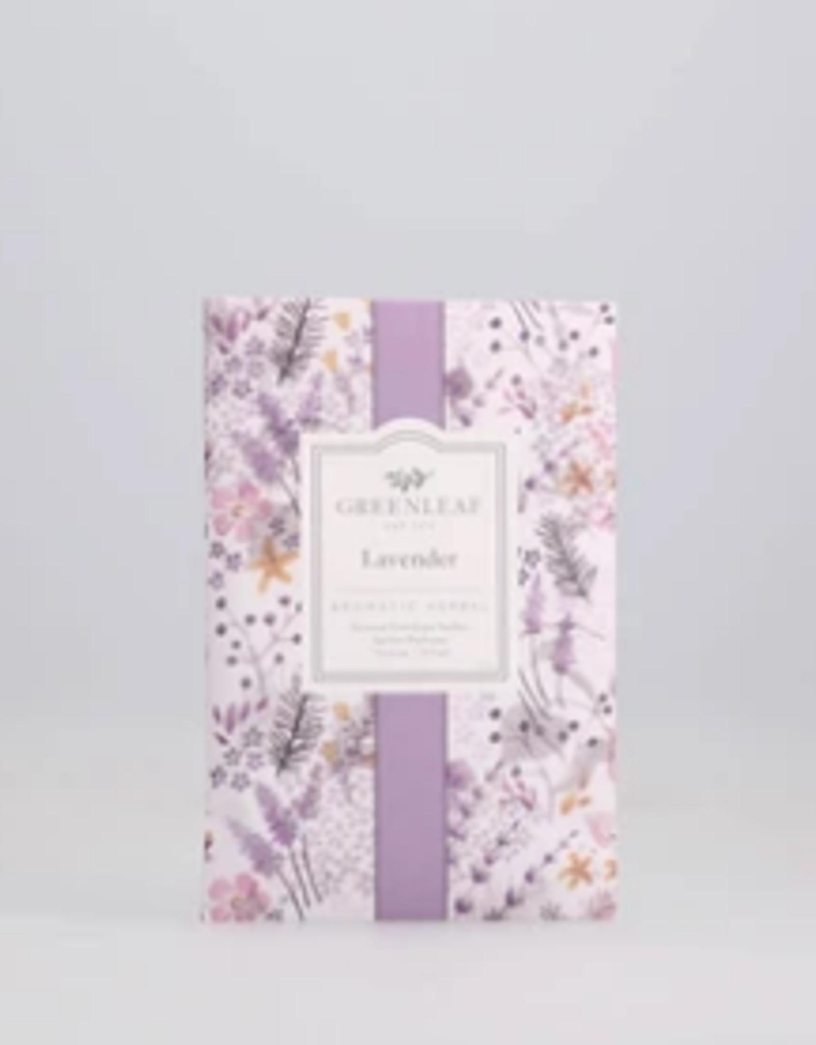 Greenleaf Large Sachet, Lavender