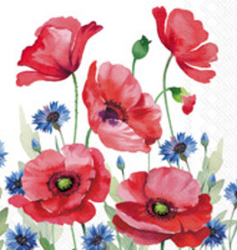 Boston International Cocktail Napkin, Modern Poppy