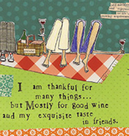 Boston International Cocktail Napkin, Thankful For