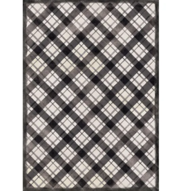Studio M Floor Flair, Diagonal Plaid